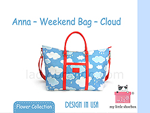 My Little Shoebox Anna-Weekend Bag - Cloud