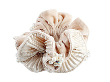 Cotton Scrunchie With Pearl