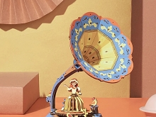 Retro Vintage Gramophone DIY Music Box
