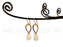 Gold Hoop Earrings with Crystal