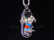 USB Jewel Horse Necklace Flash Drive