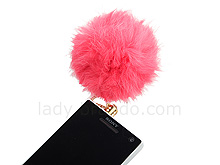 Plug-in 3.5mm Earphone Jack Accessory - Fuzzy Ball