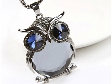 Jewel Owl Necklace II