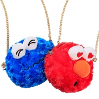 Sesame Street Cute Head Chain Slant Bag