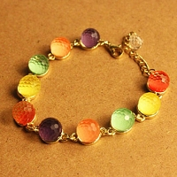 Colorful Candy Crystal Bead Bracelet