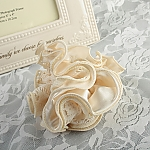 Ivory Fabric Lace Hair Tie