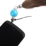 Plug-in 3.5mm Earphone Jack Accessory - Colour Ball with Fuzzy Tail
