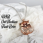 USB Owl Necklace Flash Drive