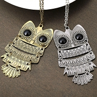 Antique Owl Necklace