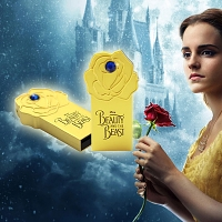 Beauty and the Beast Gold Rose USB Flash Drive