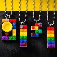Colorful Brick Necklace