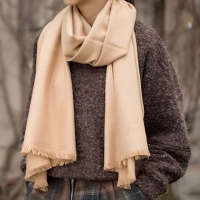 Long Thick Wool Scarf