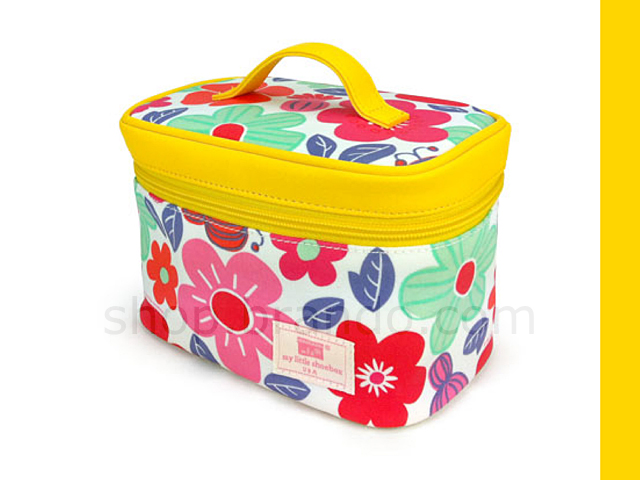 My Little Shoebox Travel Cosmetic bag  - Flower