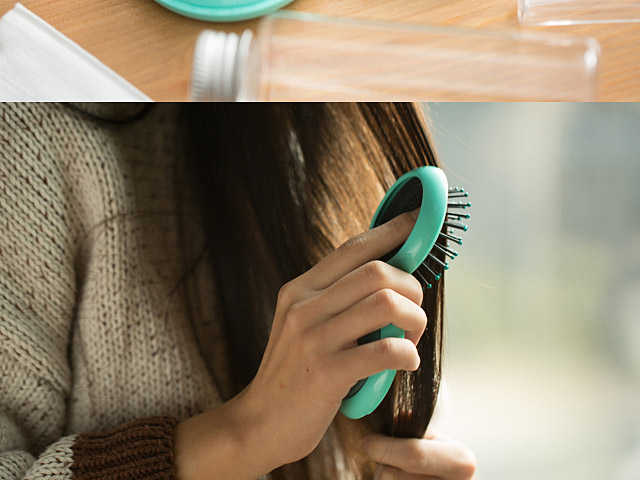 ArtiArt Portable Round Folding Comb Mirror