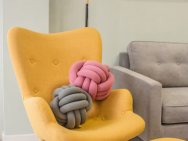 Magic Channel Ball Knot Pillow