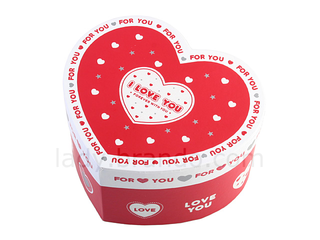 """I Love You"" Heart Shaped Paper Gift Boxes"