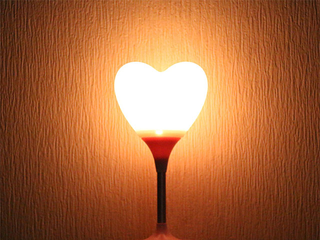 USB Heart Lamp