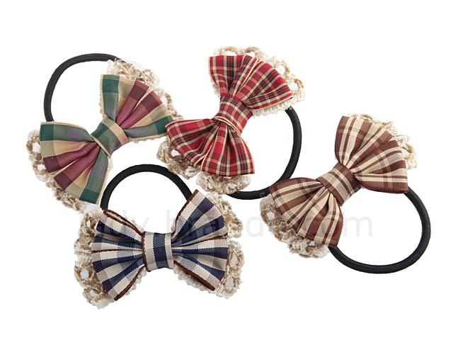 Ribbon Hair Band with Checks Pattern dc53270d344