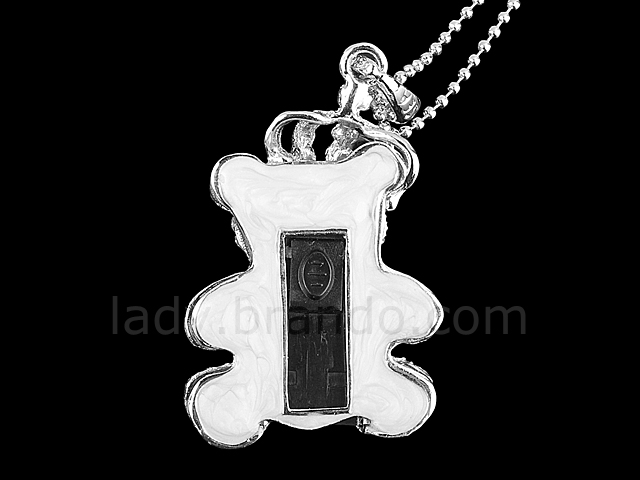 USB Jewel Bear Necklace Flash Drive
