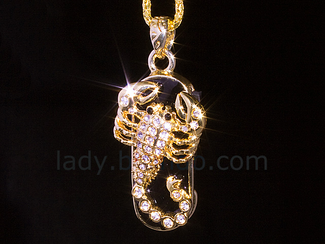USB Jewel Scorpion Necklace Flash Drive