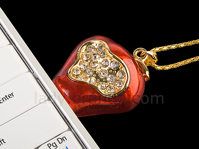 USB Jewel Apple Necklace Flash Drive III