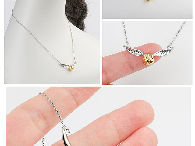 Harry Potter Golden Snitch 925 Silver Necklace